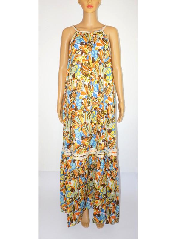 ALESSIA SANTI Kleid lang Blumen multicolor | LOUILU