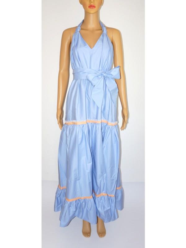 ALESSIA SANTI Kleid lang hellblau apricot | LOUILU